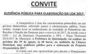 Audi�ncia P�blica Para Elabora��o da LOA 2017.