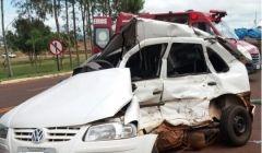 Acidente em trevo da Avenida Brasil mata idoso, em Quirinópolis